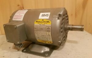 Baldor Motor M3116t 1 Hp 1725 Rpm Frame 143t 3 Ph Good Condition