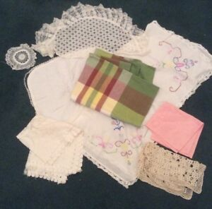 A Job Lot Of Linens For Crafts Rework Upcycling 8 Items In Total