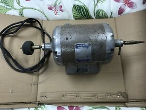 Baldor 380t Double Spindle Motor 1 3 Hp 2 Speed 3450 1735 Rpm Lathe Polisher