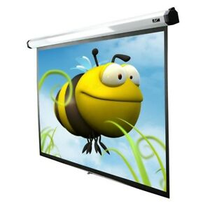 Projector Screen Electric Motorized Projection Retractable 30 In Drop 90 In