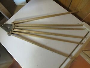 Vintage Antique Handy 6 Arm Wooden Wall Clothes Drying Rack Estate