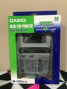Casio Hr 150lcgy w Desk Top Printer Business Calculator W 2 color Printing