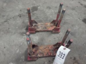 International Harvester 1066 Tractor Roll Bar Clamp 2 Tag 393