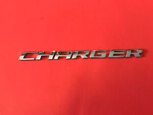 06 07 08 09 10 Dodge Charger Rear Lid Chrome Center Emblem Logo Badge Sign