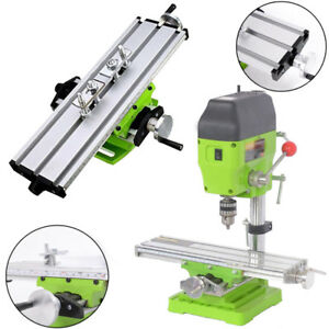 Milling Worktable Machine Double Track Slide Bench Drill Press Aluminum Alloy