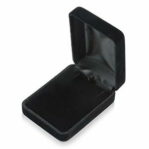Black Jewelry Box Gift Display Necklace Earring Bracelet Ring Watch Case New