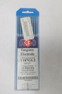 Pack Of 10 Ck Worldwide T187gl2 Lanthanated Tungsten Electrode 1 8 X 7
