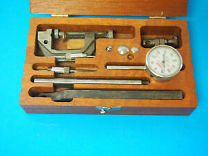 Lufkin Universal Dial Test Indicator Set W Wooden Case 399a 299a