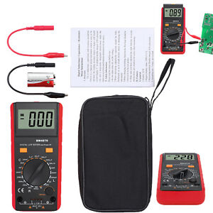 6000count Digital Multimeter Trms Dc Ac Voltage Non contact Current Tester Meter
