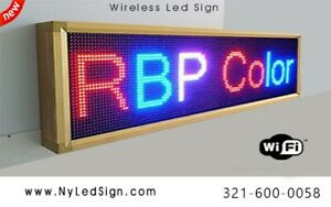 Led Sign Wireless Programmable Scrolling Message Sign 15 X 40 Tri Color