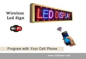 Led Sign Wifi Digital Programmable Scrolling Message Sign 15 X 78 3 color