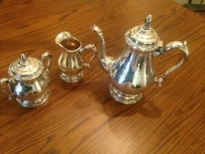 Vintage Rodgers Bros Remembrance Silver Plate Tea Coffee Set