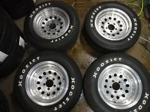 4 Vintage 235 60 15 And 255 60 15 Hoosier Radial Gt Tires And 15 5x4 5 Wheels