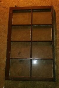 Vintage Sash Antique Wood Window Picture Frame Rustic 8 Panel 1 Broke 44x27
