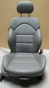 2001 2006 Bmw E46 M3 Coupe Front Right Passenger Leather Grey Seat Oem A7729