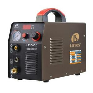 Lotos Plasma Cutter Compact Inverter Metal Clean Cut Automatic 110 220v 50 Amp