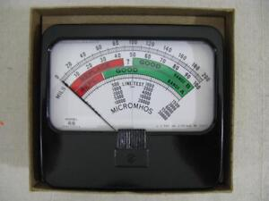 New Military Spec Meter For Hickok 750 Tube Tester 280 a 645 Ohms Usa Made