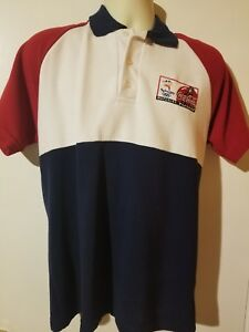 Sydney 2000 official Olympic coca cola polo shirt small NM polyester cotton