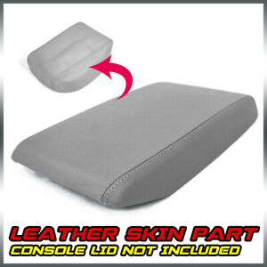 Console Lid Armrest Cover Fits For Toyota Highlander 2008 2013 Gray Leather
