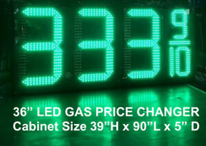 36 Character Size Led Gas Price Changer W Rf Long Range Remote 5 Year Warranty