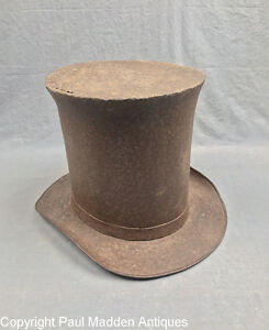 Antique Top Hat Sheet Iron Sign