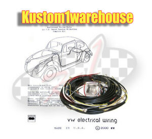 1961 Vw Volkswagen Bug Sedan Complete Wiring Works Harness Wire Kit Made In Usa