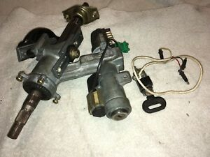 Saab 9000 Telescoping Steering Column Ignition Switch Door Lock Shared Key 1995