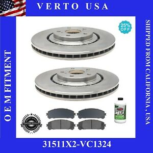Front Brake Rotors Pads For Toyota Sienna 2011 2012 2013 2014 2015 2016 To 2018