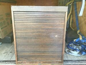 C Vintage Oak Stanley Tool Country Store Display Cabinet With Roll Front