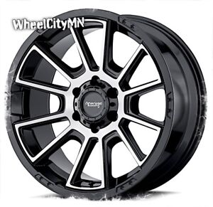17 X8 5 Gloss Black Machine American Racing Ar933 Wheels Chevy Colorado 6x120