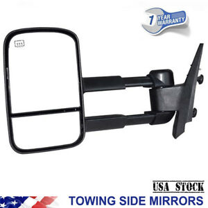 Fit 2007 2013 Chevy Avalanche Gmc Yukon Left Side Towing Mirror Power Heated