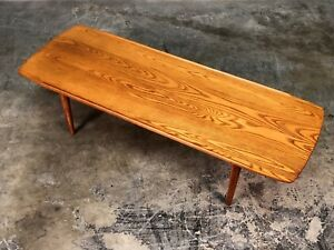 Solid Wood Plank Mid Century Modern Coffee Table Tv Stand