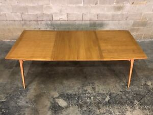 Heywood Wakefield Mid Century Modern Dining Table 2 Extensions