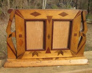 C1900 Excellent Adirondack Style Parquetry Inlaid Folk Primitive Tabletop Frame