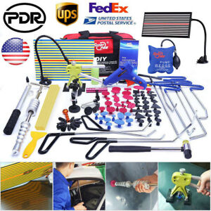Us Car Body Pdr Tools Paintless Dent Repair Hail Removal Dent Puller Lifter Kits