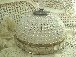 Spectacular Vintage X Large Beaded Dome Ceiling Fixture Light