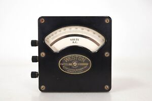 Weston Vintage Ac Volt Meter 150 300 V Tested