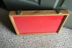 1 only 12 X 18 X 2 Oak Wood Display Case made In Us At Wholesale Price