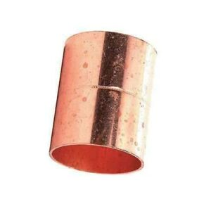Lot Of 50 3 4 Inch Copper Cxc Coupling With Stop Pipe Fitting Plumbing 7 8 od