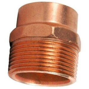 Lot Of 10 1 Inch Copper C X Male Adapter Pipe Fitting Plumbing