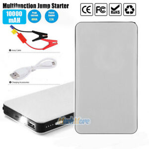 12v Car Jump Starter Portable Power Bank Battery Charger Booster Jumper Cables