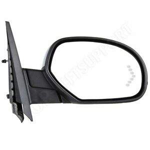 Passenger Side Mirror Power Fold Memory Heat Puddle Signal Chrome For Chevy Gmc