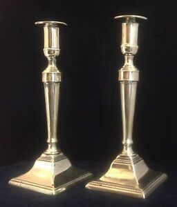 Pair Of English Neoclassical Brass Candlesticks With Pushup Ejectors C 1780