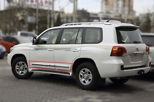 For Toyota Land Cruiser Lc200 08 18 Pearl White Car Door Body Side Molding Trim