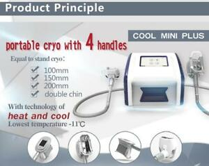 4 Handle Portable Cryotherapy Machine Fat Freeze Therapy Cooling Cryo Lipolysis