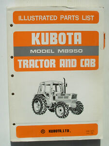 Kubota M8950 Tractor Cab Parts List 07909 52770