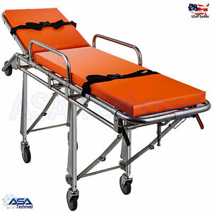 Emergency Medical Stretcher Ambulance Automatic Loading Folding