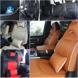 Pu Leather Seat Cover For Dodge Ram 1500 2500 3500 2009 2018 W Armrest Cover Pad