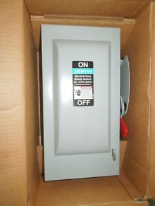Siemens Gf322nr General Duty Fusible Safety Switch 60a 240v Nema 3r Outdoor New