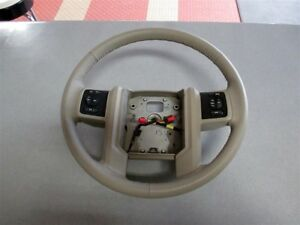 Nos Oem Ford Expedition Leather Steering Wheel 2007 08 Medium Light Stone Gray